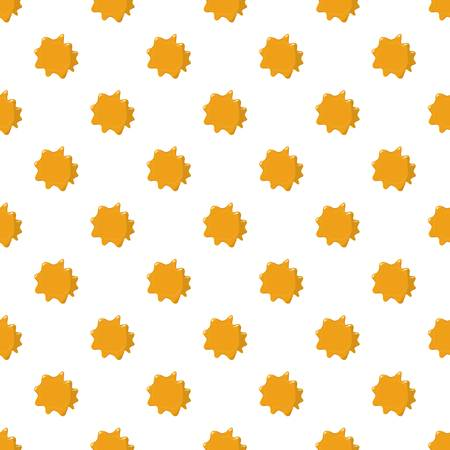 Orange honey pattern seamless repeat in cartoon style vector illustration