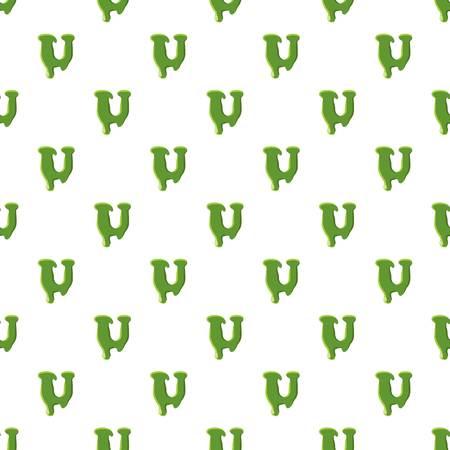 Letter U made of green slime Illustration