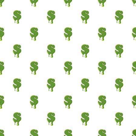 Letter S made of green slime