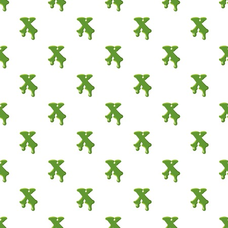 Letter X made of green slime
