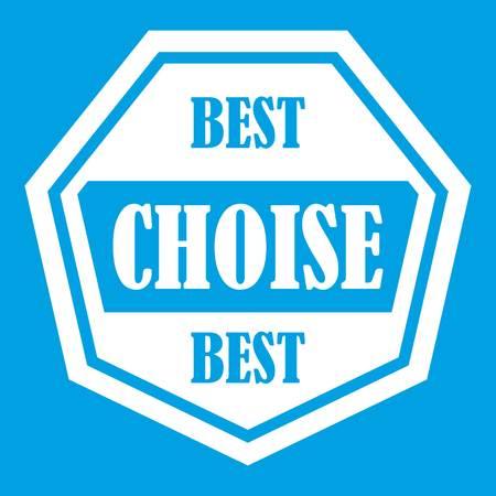 polished: Best choise label icon white