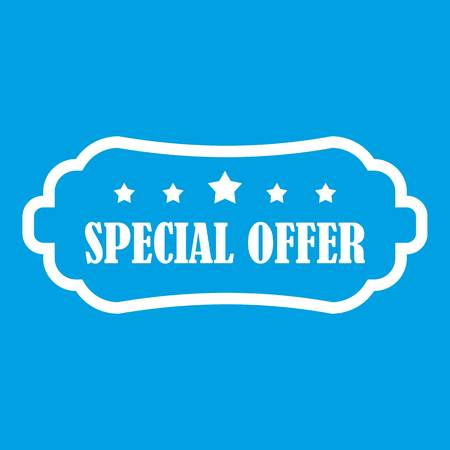 Special offer label icon white Illustration