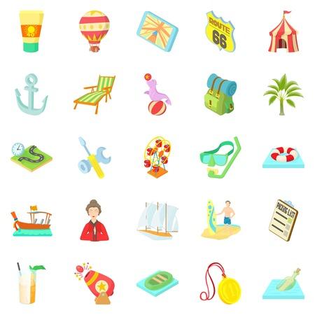 Shady enterprise icons set. Cartoon set of 25 shady enterprise icons for web isolated on white background