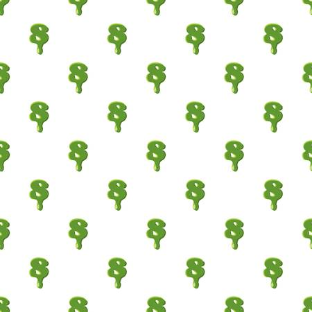 Number 8 from latin alphabet with numbers and symbols made of green slime. Font can be used for Halloween design and other purposes