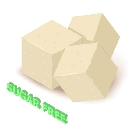 Sugar allergen free icon. Isometric illustration of sugar vector icon for web design