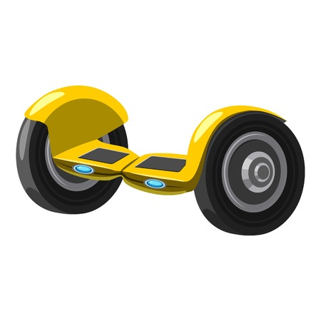 Self balancing hoverboard icon. Cartoon illustration of self balancing hoverboard vector icon for web design Illustration