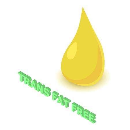Trans fat allergen free icon. Isometric illustration of trans fat vector icon for web design