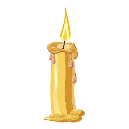 Melting candle icon. Cartoon illustration of candle vector icon for web design Vector Illustration