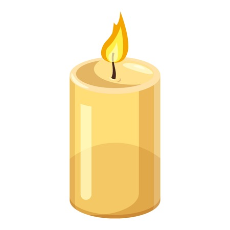 Thick candle icon. Cartoon illustration of candle vector icon for web design