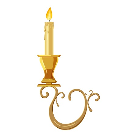 waxen: Candelabrum icon. Cartoon illustration of candelabrum vector icon for web design
