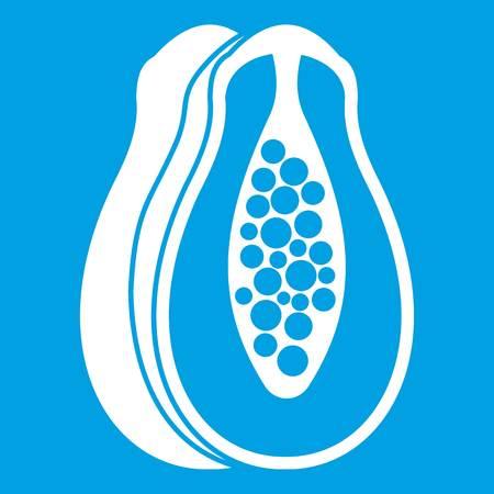 Papaya icon white