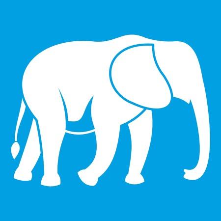 srilanka: Wild elephant icon white