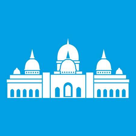 Sheikh Zayed Grand Mosque, UAE icon white