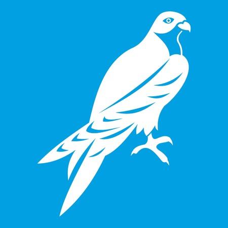 Falcon pictogram wit