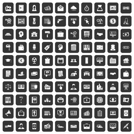 100 lending icons set black