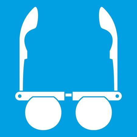 Glasses with black round lenses icon white
