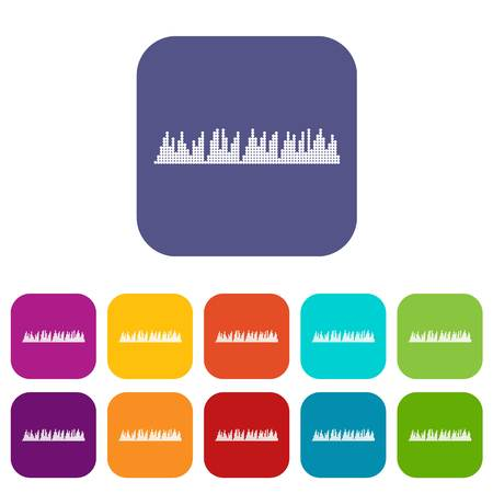 soundwave: Audio digital equalizer technology icons set