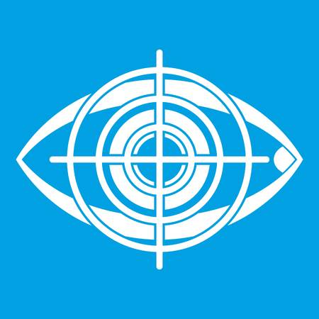 Eye and target icon white