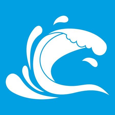 Water wave splash icon white