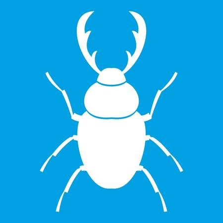 stag beetle: Stag beetle icon white
