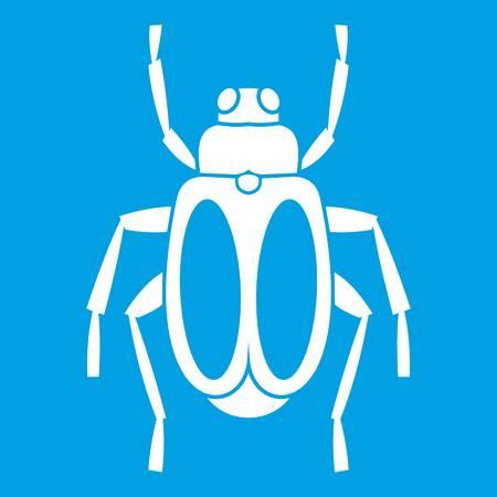 Icône de scarabée blanc. Illustration vectorielle. Banque d'images - 82984111