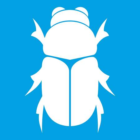 Chafer beetle icon white