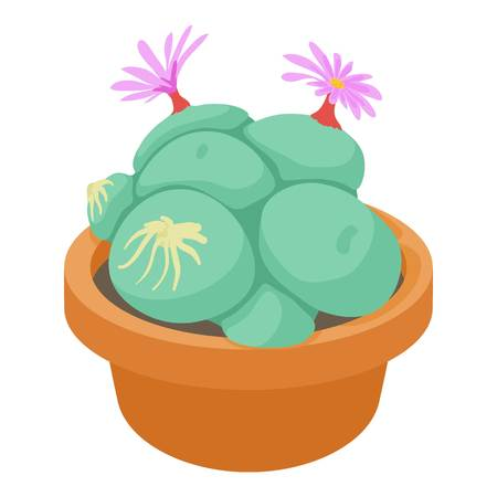 Succulent icon. cartoon illustration of vector icon for web Illustration
