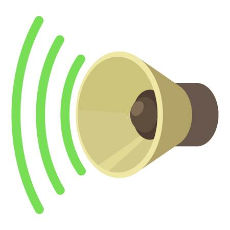 louder: Sound on icon. cartoon illustration of sound on vector icon for web