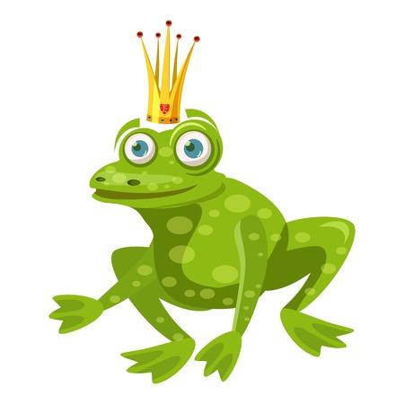 Princess frog icon. cartoon illustration of princess frog vector icon for web