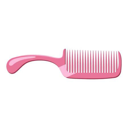 Pink comb icon. cartoon illustration of pink comb vector icon for web