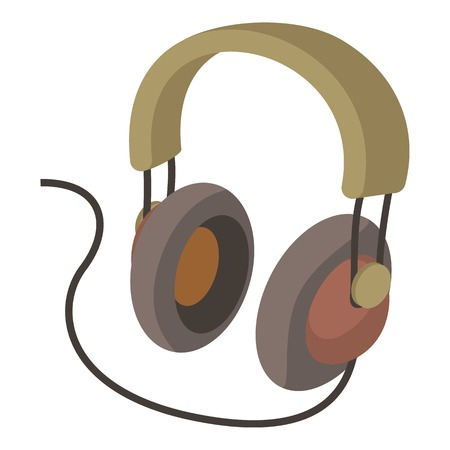 Headphone icon. cartoon illustration of headphone vector icon for web