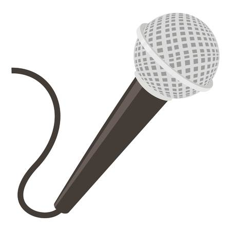 Microphone icon. cartoon illustration of microphone vector icon for web Çizim