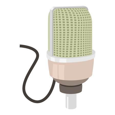 Retro microphone icon. cartoon illustration of retro microphone vector icon for web