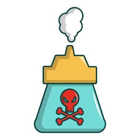 gas can: Kill pest gas icon. Cartoon illustration of kill pest gas vector icon for web design