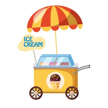 Ice cream mobile snack icon. cartoon illustration of ice cream mobile snack vector icon for web Vectores