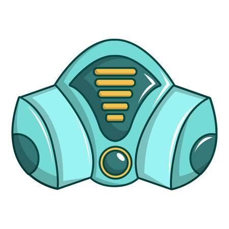 Gas mask icon. Cartoon illustration of gas mask vector icon for web design Illustration