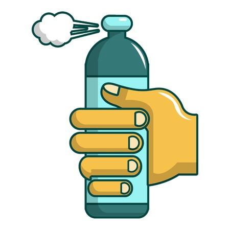 Spray gas icon. Cartoon illustration of spray gas vector icon for web design