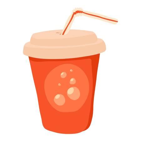 Soda icon. cartoon illustration of soda vector icon for web Illustration