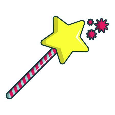 Princess wand icon. Cartoon illustration of princess wand vector icon for web design