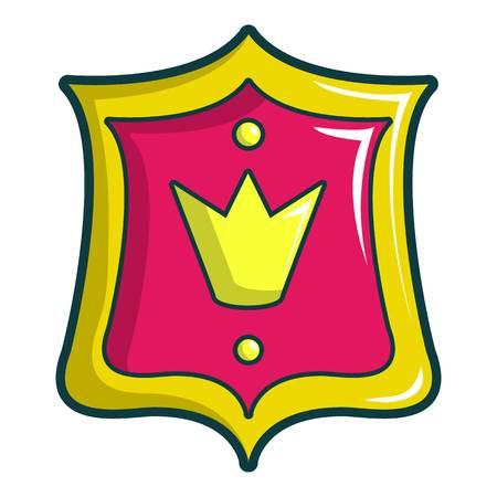 Princess emblem icon. Cartoon illustration of princess emblem vector icon for web design Illustration