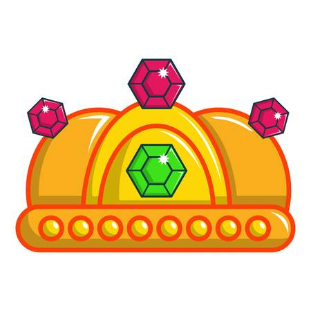 Ruby imperial crown icon. Cartoon illustration of ruby imperial crown vector icon for web design Illustration