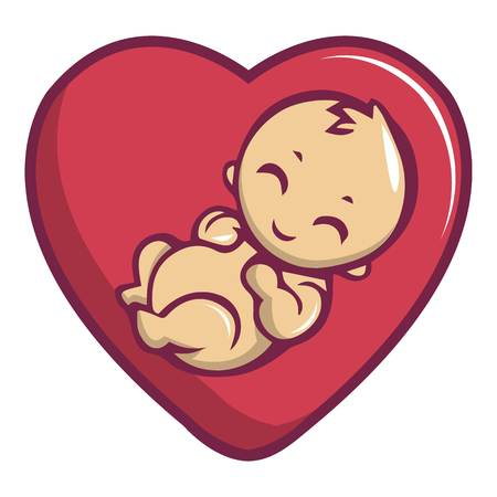 Baby love icon. Cartoon illustration of baby love vector icon for web design