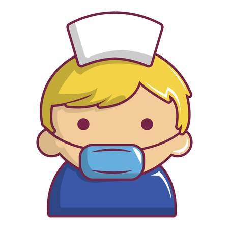 Pregnant nurse icon. Cartoon illustration of pregnant nurse vector icon for web design Illustration