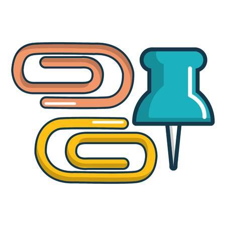 Paper clips binders icon. Cartoon illustration of paper clips binders vector icon for web design