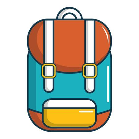 Backpack schoolbag icon. Cartoon illustration of backpack schoolbag vector icon for web design Illustration