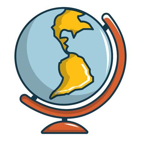 Globe icon. Cartoon illustration of globe vector icon for web design