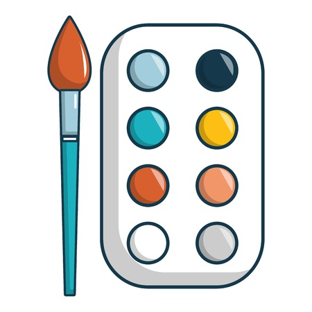 Paint palette icon. Cartoon illustration of paint palette vector icon for web design