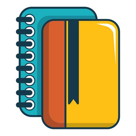 Copybook icon. Cartoon illustration of copybook vector icon for web design Illustration