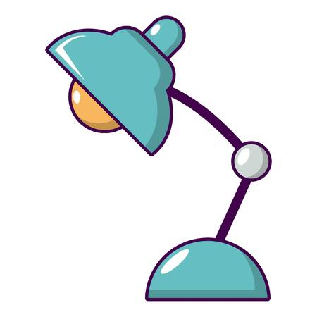 Desk lamp icon. Cartoon illustration of desk lamp vector icon for web design