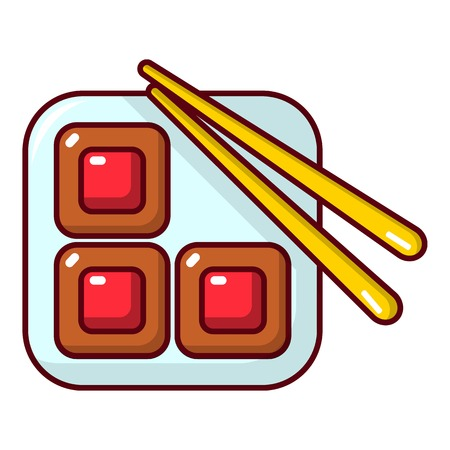Sushi icon. Cartoon illustration of sushi vector icon for web design Illustration